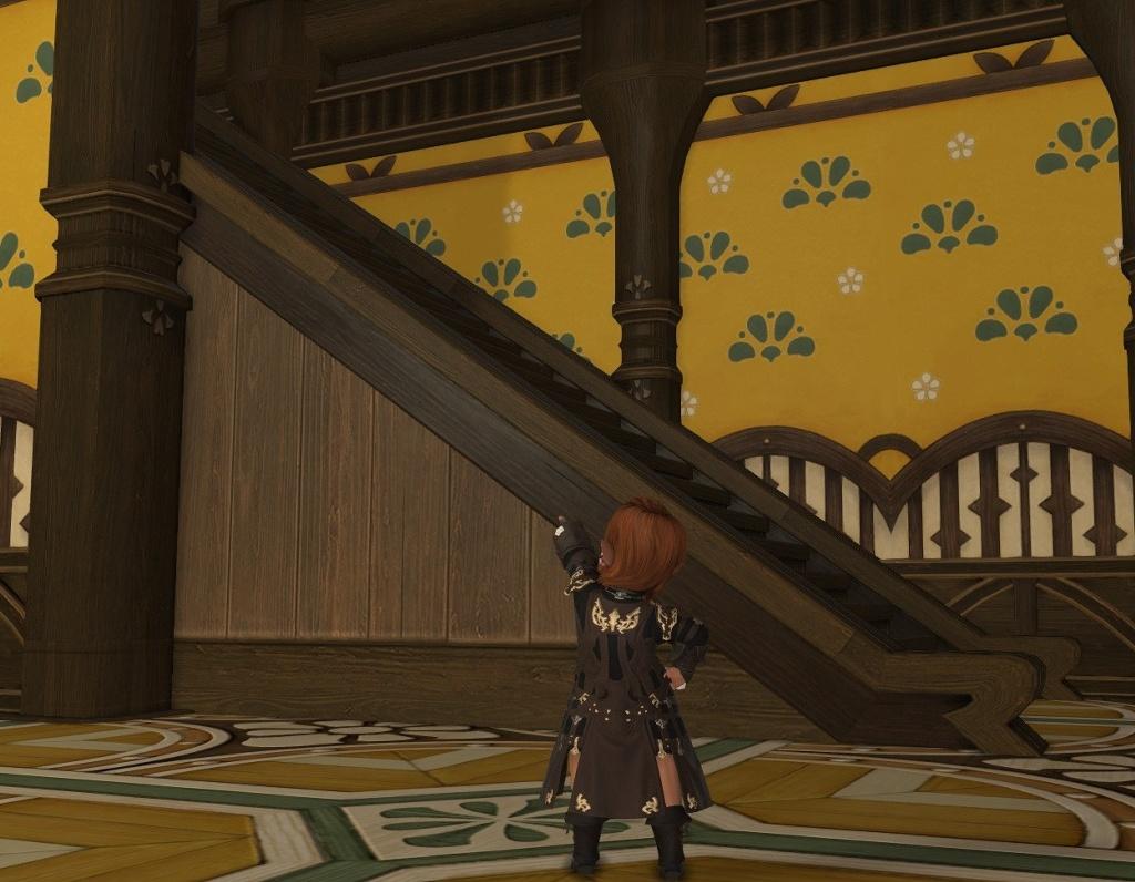 階段部分にも壁紙を