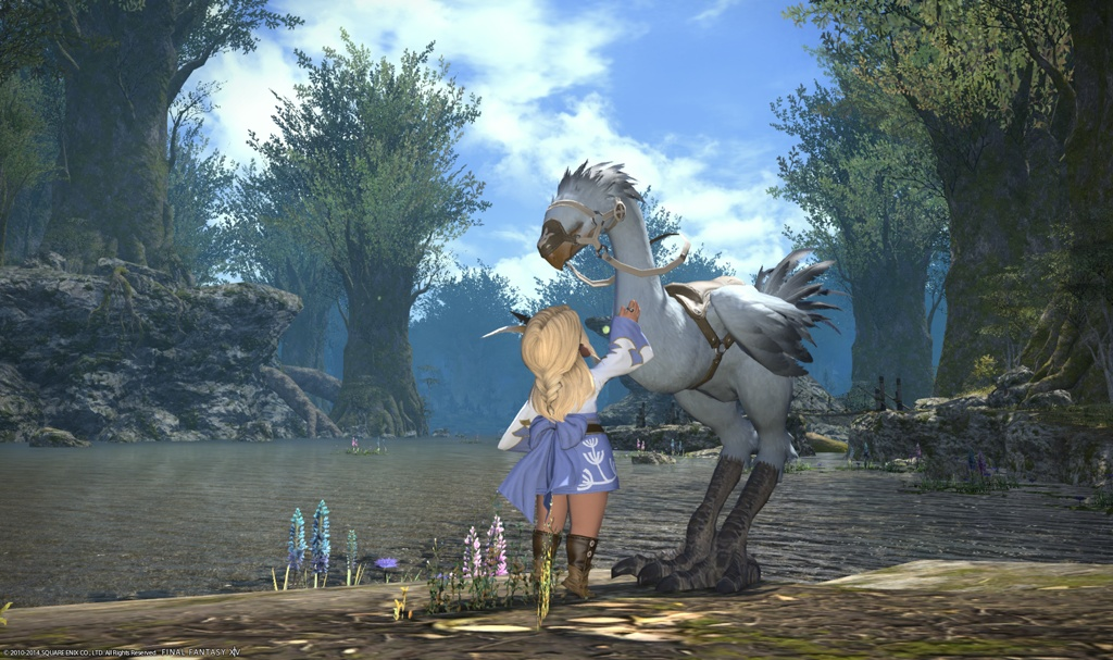 how to make your chocobo snow white from sylph green