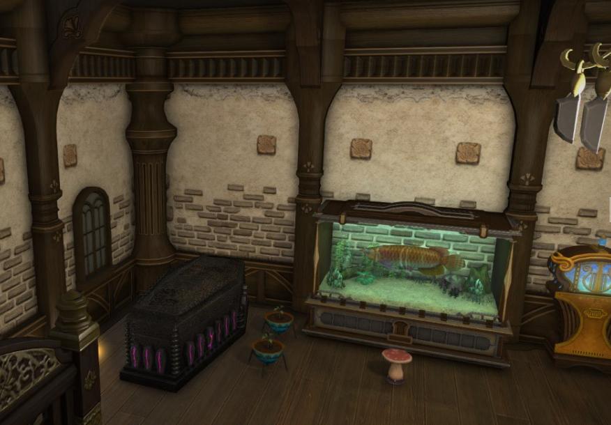 アクアリウムG2が小さかったので、自室2(アパルトメントにある仕事場)にはG3を置きました。  左の画像が自室2です。寝台とシャワーくらいしか置いてないので、