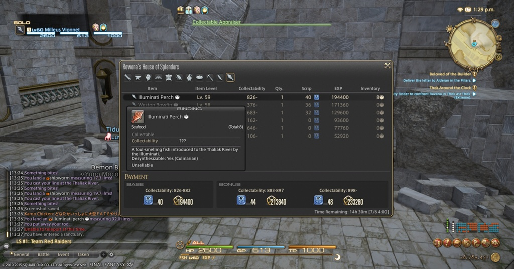 Articles de milleus vionnet levelling fisher to 60 blue for Ffxiv fishing locations
