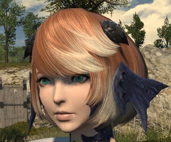どの髪型でも似合うように考えてアウラを作ってみる
