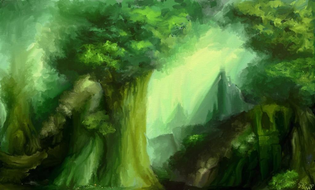 Silo Hugo 日記イラスト 黒衣森1 Final Fantasy Xiv The Lodestone