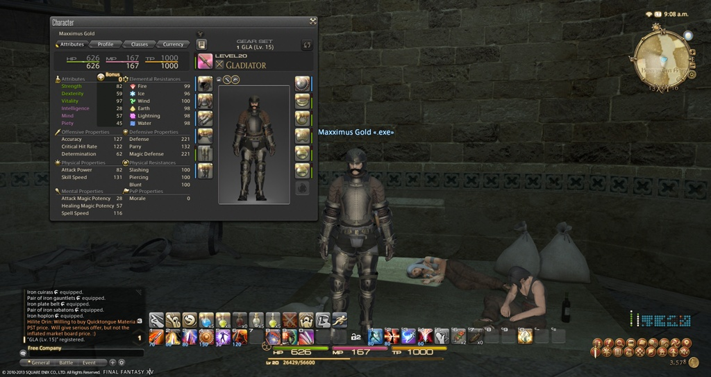 Maxximus Gold Blog Entry `Finished Iron gear ` | FINAL FANTASY XIV