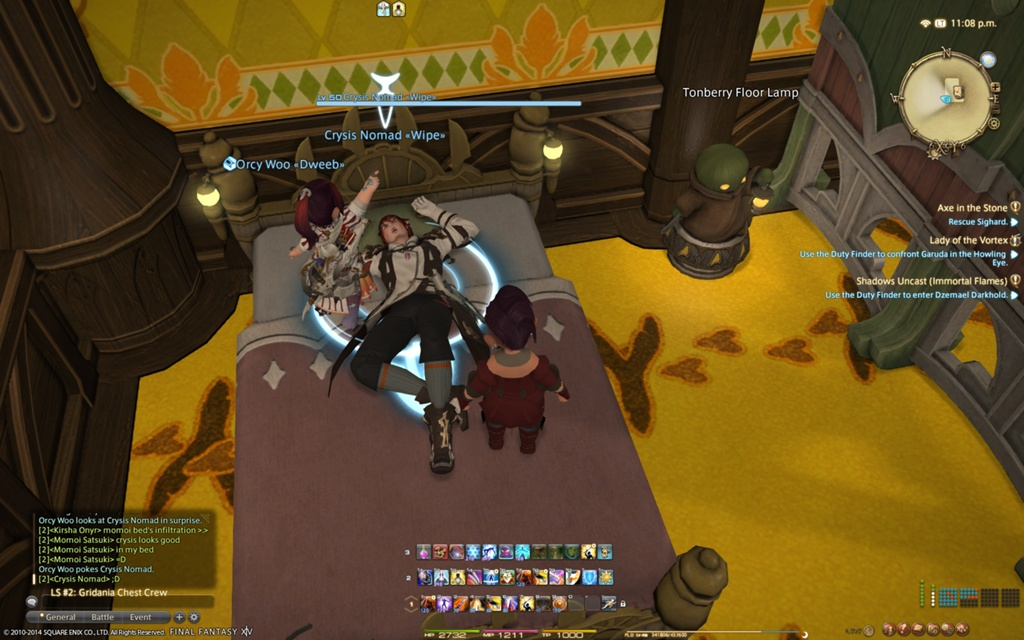 Ffxiv How To Sleep On Bed