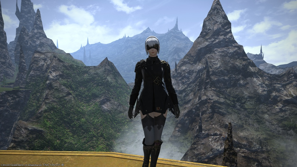 aryana nephilim blog entry nier 2b glamour on ninja final