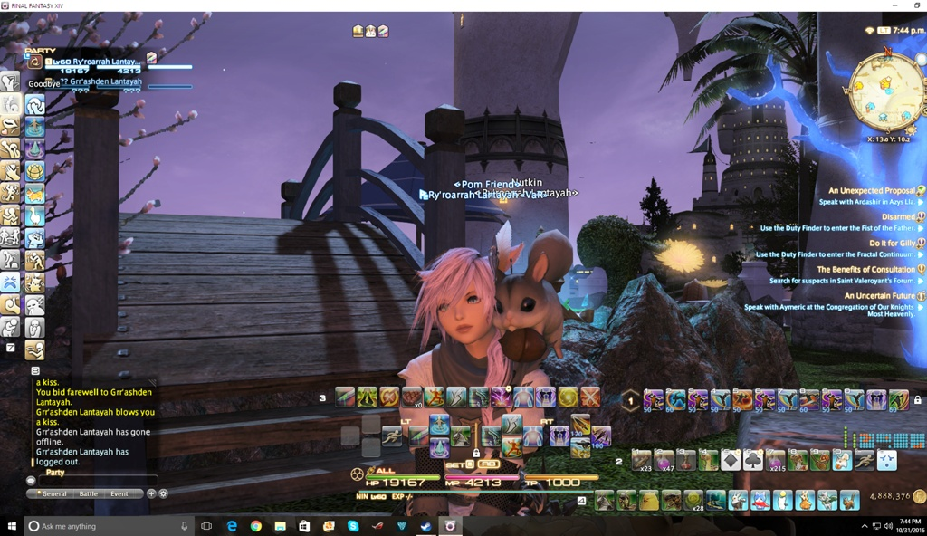 Ry\'roarrah Lantayah Blog Entry `Home pics! with my chocobo taking a ...