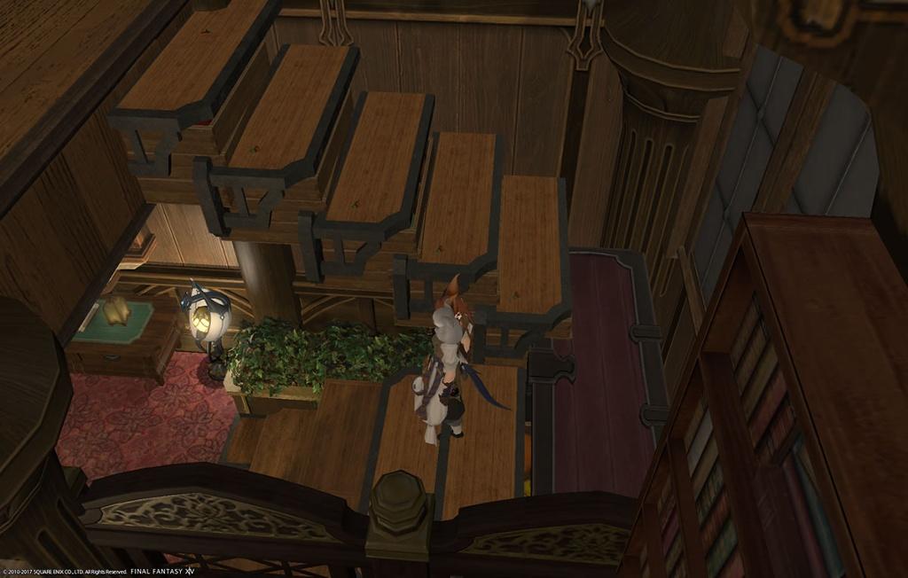 お手製の階段はこんな感じ