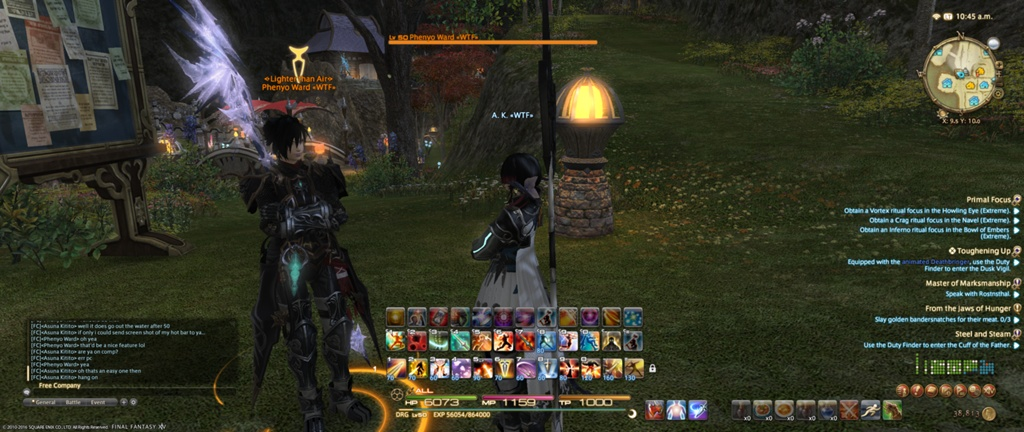 Asuna Kitito Blog Entry `Dragoon hot bar lvl 50 for PC for