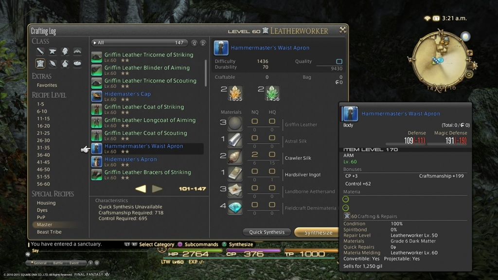 Final Fantasy Xiv Crafting — Totoku