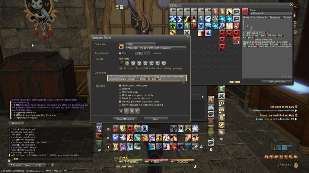 Mobile Kusuma Blog Entry `My Party Finder - Phoenix Server