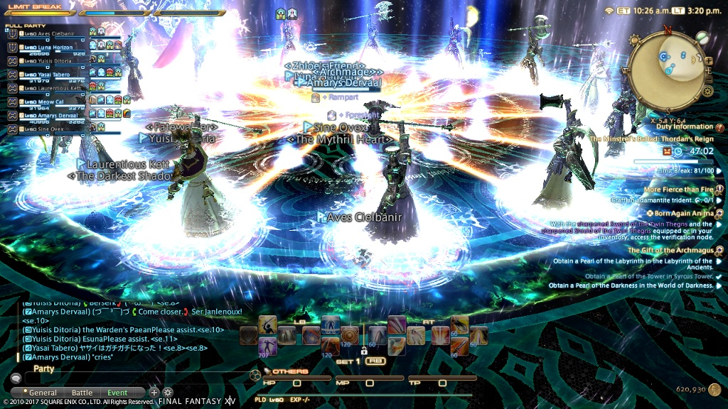 Aves Cielbanir Blog Entry `OP tank party XD` | FINAL FANTASY